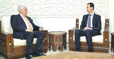 Photo of تلقى رسالة من رئيس وزراء العراق نقلها الفياض …الرئيس الأسد: إرادة شعوب المنطقة كانت أقوى من المخططات الخارجية