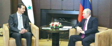 Photo of دمشق وموسكو تتبادلان التهاني بمناسبة العام الجديد … الأسد لـ«بوتين»: نتطلع نحو المزيد من النهوض بعلاقاتنا الثنائية